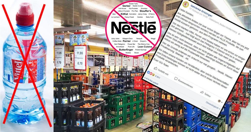 NESTLEBOYKOTT: Getränkemarkt streicht alle Nestlé-Produkte aus dem Sortiment
